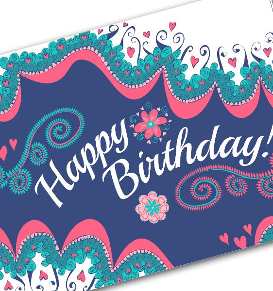 Happy Birthday Gift Voucher Sheertouch Laser Hair